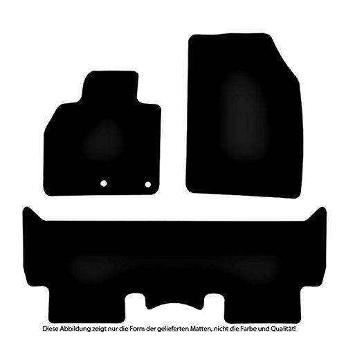Velours Fußmatten Auto-matten Set passend für RENAULT SCENIC 3 2009-16 JZ VORN