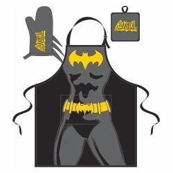 Batgirl - Silhouette Küchenschürze Set von 3 - Schwarz