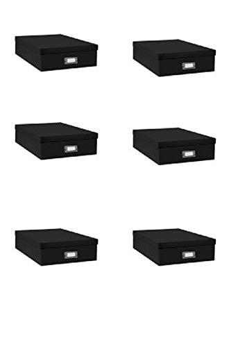 Pioneer Jumbo Scrapbook Storage Box, Black, 14.75 Inch X 13 Inch X 3.75 Inch,6-Pack