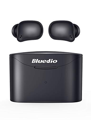 Cheap Bluetooth 5.0 Wireless Earbuds, Bluedio T Elf 2 True Wireless Touch Headphones in-Ear Earphones with Charging Case, Mini Car Headset Built-in Mic for Cell Phone/Sports, 6Hrs Playtime, LED Indicator bluedio earbuds