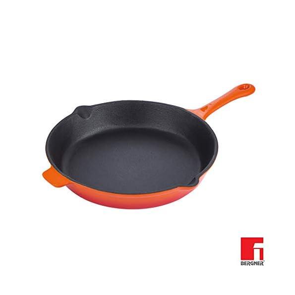 BERGNER-Eros-Cast-Iron-Frypan-278-cm-Induction-Base-Orange