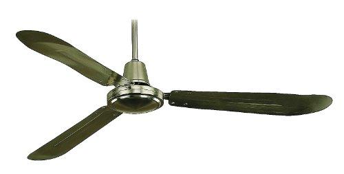 Royal Pacific 1091BA Industrial Fan 3-Blade 56-Inch Ceiling Fan, Brushed Aluminum