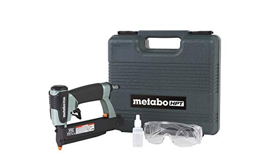 "Metabo HPT NP35A Pin Nailer, 23 Gauge, 5/8"" to 1-3/8"" Pin Nails, Dual Trigger, Depth Adjustment, No Mar Tip - 2, Reload Indicator, Removable Nose Plate, Large Capacity Pinner, 5 Year Warranty"