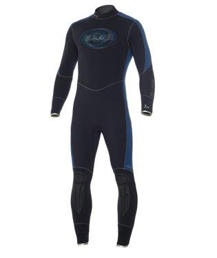 - 7mm Mens Bare Elastek Full Super Stretch Scuba Diving Wetsuit, Dive Suit, Scuba Wet Suit, Scuba Suit, Dive Wetsuit, Iodine Blue, 3XL