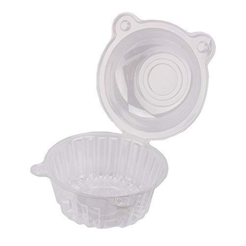 GOTOTOP 400pcs Cake Boxes-Clear Plastic Single Individual Cupcake Boxes Holder Muffin Case Patty Container Cupcake Car Cake Take Out Containers by GOTOTOP (Image #4)