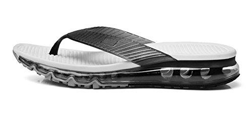 Eagsouni Unisex Zehentrenner Flip Flops Sandalen Hausschuhe Pantoletten Sommer Outdoor Strand Schuhe für Damen Herren Schwarz