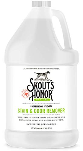 Skout's Honor: Professional Strength Stain and Odor Remover – One Gallon (128 oz) – Deodorize and Clean Pet Stains, Dog Crates, Carpets, Furniture and Other Water-Safe Surfaces – Laundry Safe
