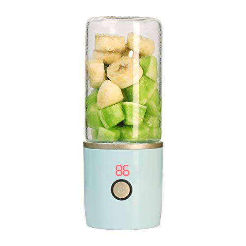- Gotian 400ML Portable Blend Rechargeable USB Juicer Cup&Bottle Fruit Mixer Machine Portable Electric Juice Cup Mix Different Kinds of Fruit and Vegetables (Blue)