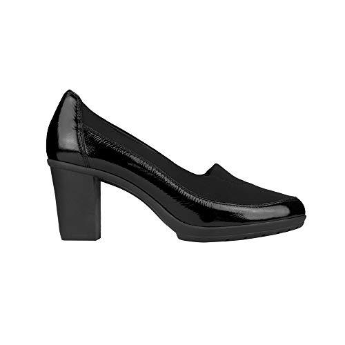 Negro De Piel Dr Mujer Para Vestir Zapatos Scholl FwafRq0