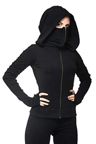 Crazy Prints Women's Cotton Hooded Sweatshirt