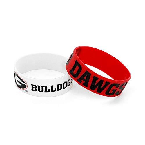 Black Bottle Opener Keyring and Rubber Wristbands Gift Bundle aminco NCAA Georgia Bulldogs Team Lanyard