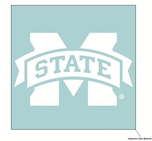 Wincraft NCAA Mississippi State University Bulldogs 6 x 6 inch White Decal ()