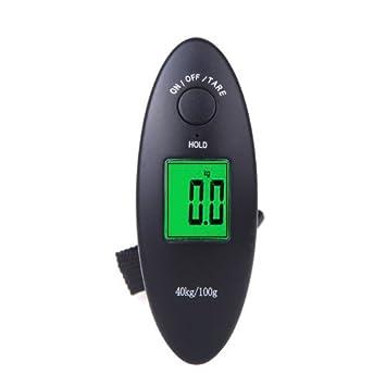 balanzas electronicas - TOOGOO(R)40kg / 100g Digital Portatil Electronico del Equipaje Escala del Peso Colgante LCD Pantalla kg / lb: Amazon.es