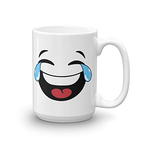 Crying Tear Laughing Emoji 7 Days Funny Emoji Birthday Coffee Mug Tee Cup]()