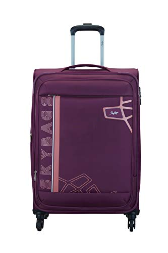 Skybags Polyester 70.5 cms Berry Purple Softsided Check-in Luggage (Wingman)