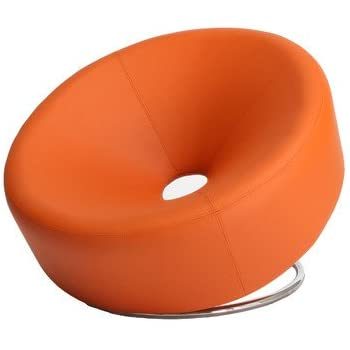 Best Selling Modern Round Chair, Orange
