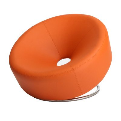 Orange Faux Leather Chair - 8