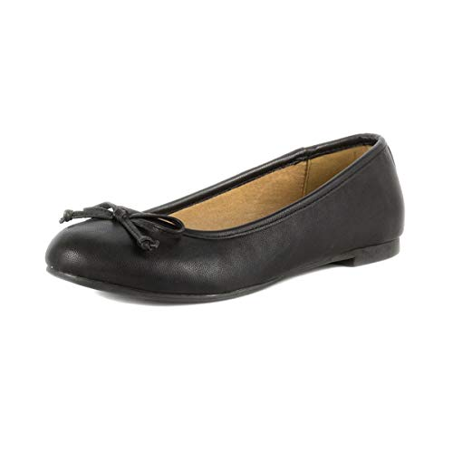 Lilley Womens Black Ballerina with a Bow