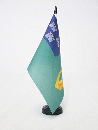 AZ FLAG Dublin Table Flag 5'' x 8'' - Dublin in Ireland Desk Flag 21 x 14 cm - Black Plastic Stick and Base