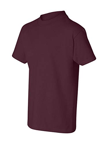 Hanes boys Cotton T-Shirt(5450)-Maroon-S