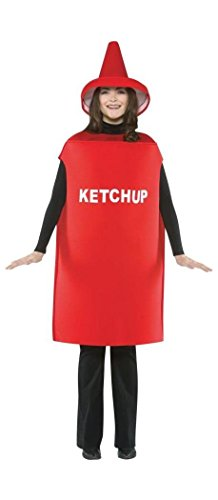 Rasta Imposta Lightweight Ketchup Costume, Red, One