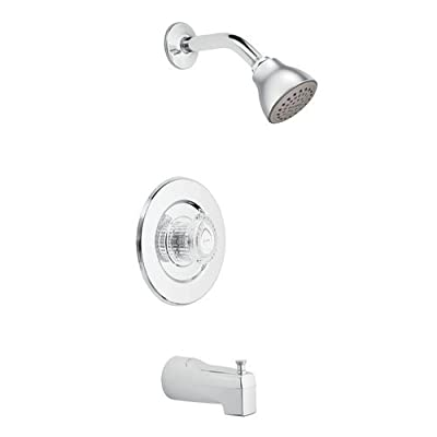 Moen T471 Chateau Pressure Balanced Tub and Shower Trim with 2.5 GPM Shower Head,