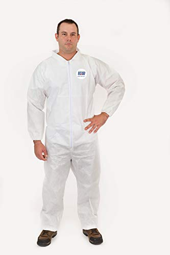 International Enviroguard Body Filter 95+, Coverall, Elastic Wrist, Open Ankle, 25 -