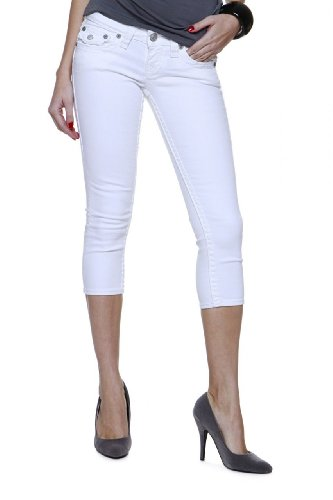 True Religion 3/4 Jeans LILY SPT CROPPED SKINNY FI, Color: White ...