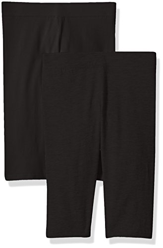 Clementine Apparel Big Girls' School and Workout 2 Pack, Black/Black, 12 by Clementine Apparel