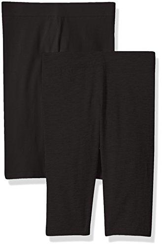 Clementine Apparel Toddler Girls' School and Workout 2 Pack, Black/Black, 4T (Leggings Capri Toddler)