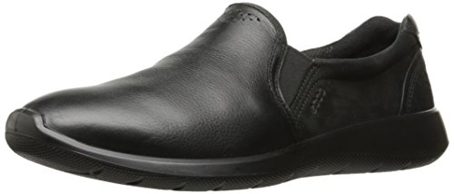 ECCO Women's Women's Soft 5 Slip On Fashion Sneaker, Black/Black, 38 EU/7-7.5 US