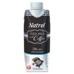 Natrel Indulgent Milk Coffee Drinks, Mocha Coffee, 11oz Prisma Bottle,12/Cartn