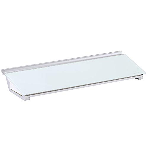 Quartet Glass Whiteboard Desktop Computer Pad with Storage Drawer, 18