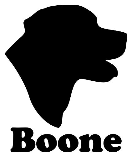 Head Personalized Dog - Minglewood Trading Black - Labrador Retriever Head with Personalized Name 6