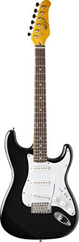 (Oscar Schmidt by Washburn Double Cutaway Electric Guitar, Black, OS-300 BK )
