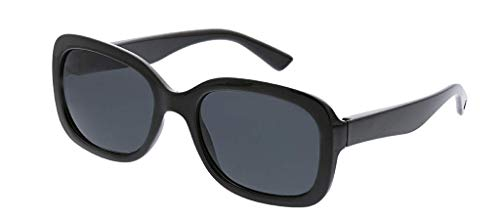 Peepers Women's Del Mar Reading Sunglasses Square, Black 53.8 mm 2.5