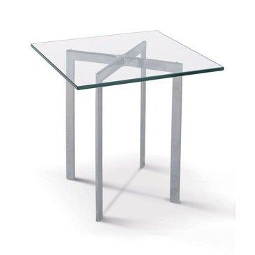Mesa BCN-60, baja, acero inoxidable, cristal, 60x60 cms: Amazon.es ...