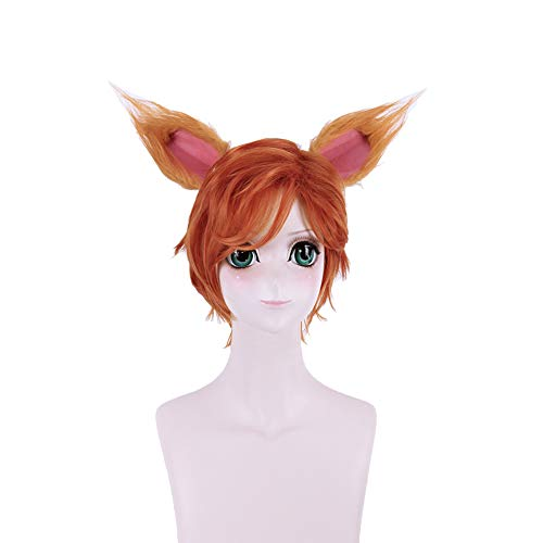 BANLAN Faux Fur Fox Costume Cat Furry Ear Adult/Teen Cosplay Halloween Christmas Party Costume One Size