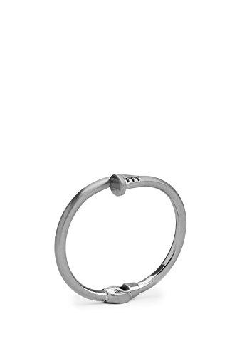 Screw Nail Bangle Wrap Around Bracelet Modern Hinged Cuff Thin Metal Wristband (Crossover Bangle Bracelet)