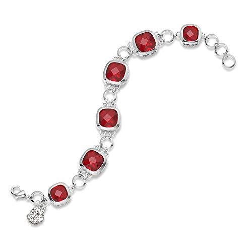 MLB Cleveland Indians MLB LogoArt Clevel and Indians Crystal Legend Bracelet Size One Size