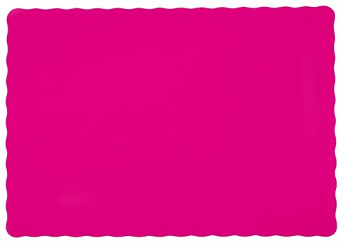 25-Paper-Placemats-10-X-14-Dinner-Size-26-Colors-Hot-Pink
