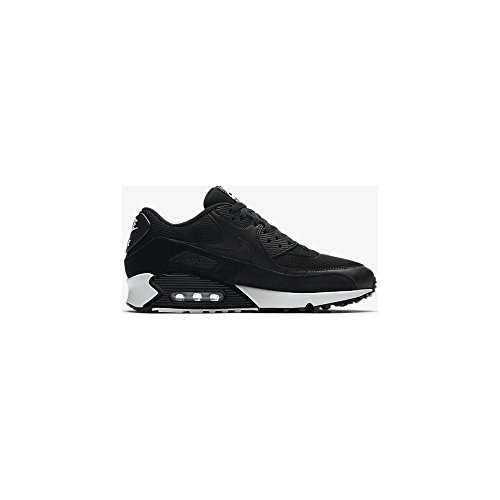 NIKE Air Max 90 Essential Mens Running Shoes, Black/Black/White, 9.5 D(M) US