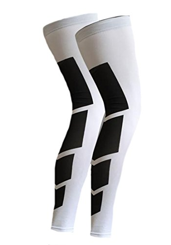 Asterisk Cell Knee Brace - KXP Knee Sleeve Support-Guaranteed Recovery Brace-Wear Anywhere-Single white L