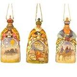 Set of Three Wisemen Ornaments