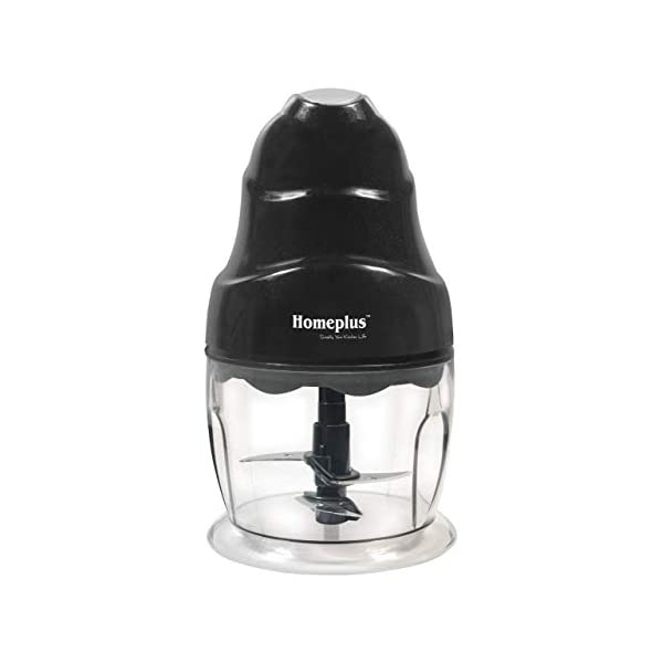 Home Plus Ultra 250-Watt Electric Vegetable Chopper with Double Blade (Black)