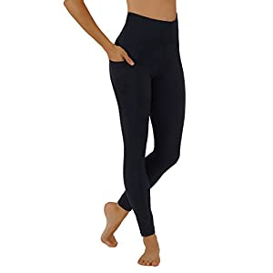 Pro Fit Yoga Pants Dry-Fit High Waist with Both Sides Pockets Full Length Workout Running Leggings