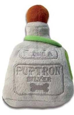 Haute Diggity Dog Puptron Tequila Bottle Dog Toy