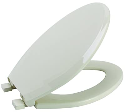 Premier Faucet 283033 Slow-Close, Elongated Plastic Toilet Seat, Bone
