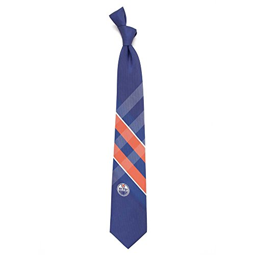 Edmonton Oilers Grid Poly Necktie