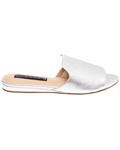 en Women's Sensai Mule, Silver Leather, 7.5 M US (Silver Slides)